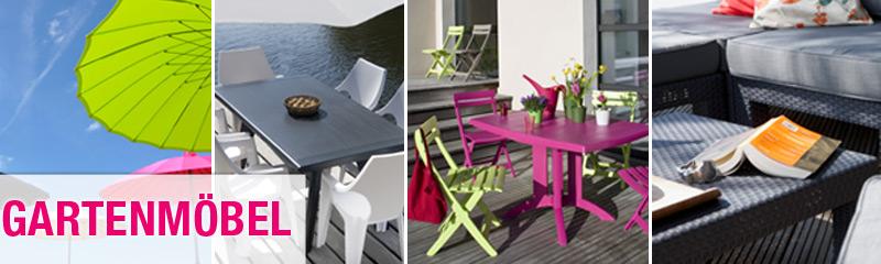 Gartenmöbel für die Terrasse Sitzgruppen, Sonnenschirme