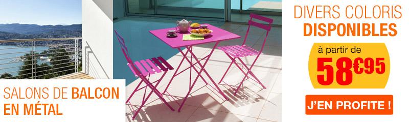 achat de mobilier de jardin pour le balcon bain de soleil luminaire pots de fleurs oogarden. Black Bedroom Furniture Sets. Home Design Ideas