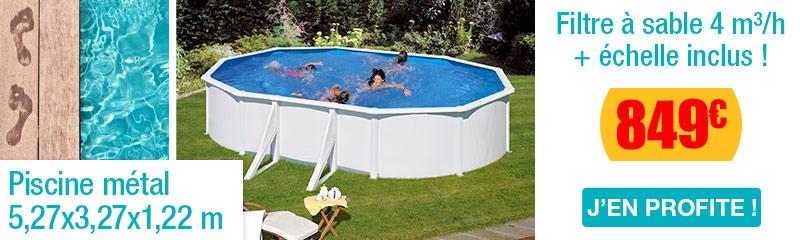 Pompe piscine hors sol trigano free piscine horssol for Piscine hors sol structure metallique
