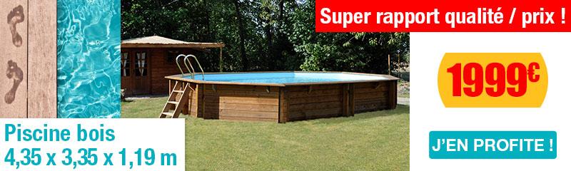 Piscine hors sol en bois vente de piscines bois hors sol for Piscine hors sol imitation bois