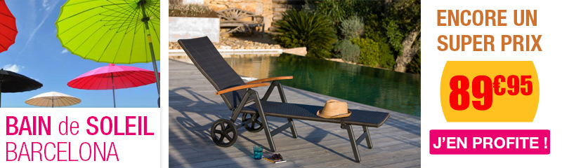 vente en ligne de bain de soleil chaise longue oogarden. Black Bedroom Furniture Sets. Home Design Ideas