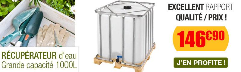 Petit r cup rateur d 39 eau de pluie pour balcon - Robinet pour recuperateur d eau de pluie ...
