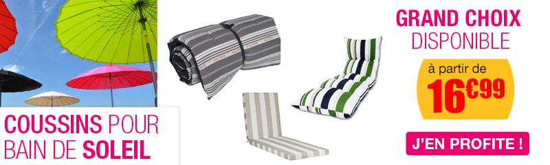 vente en ligne de coussins pour chaises longues bains de. Black Bedroom Furniture Sets. Home Design Ideas