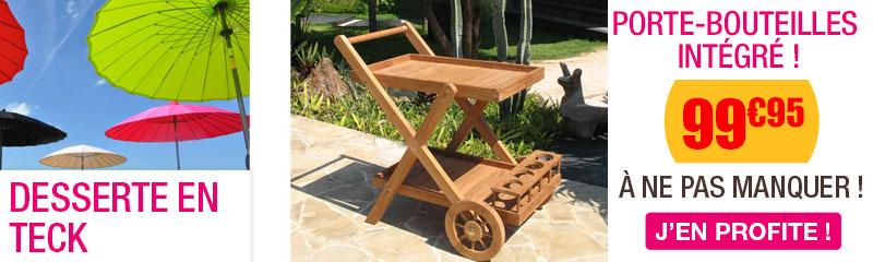 desserte de jardin oogarden vente de dessertes de jardin table roulante en teck bois et r sine. Black Bedroom Furniture Sets. Home Design Ideas