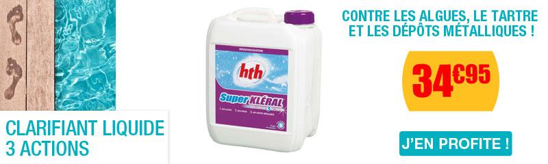 Anti algue produit de nettoyage pour la piscine for Clarifiant liquide piscine