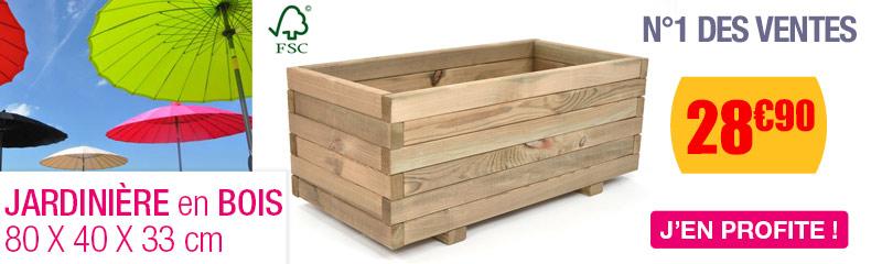 jardini re en bois et bac plantes pour le balcon. Black Bedroom Furniture Sets. Home Design Ideas