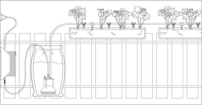 Arrosage automatique balcon jardin sur enperdresonlapin - Arrosage automatique gardena ...