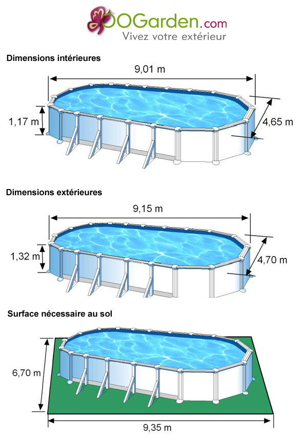 Piscine hors sol dream pool avec renforts 9 15 x 4 70 x h for Piscine hors sol 9 15 x4 60