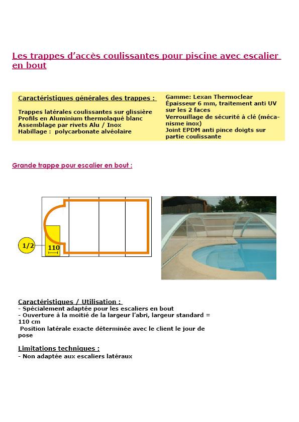 Abri piscine sur terrasse avec escalier 6x4 m oogarden for Prix piscine beton 6x4