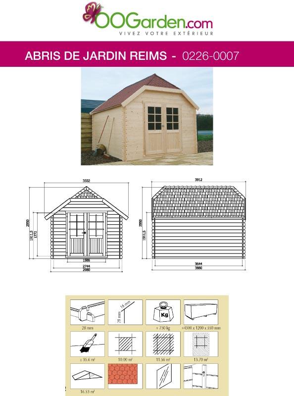 Chalet de jardin en bois de 12 m2 toit en angles - Abri de jardin flovene aixen provence ...