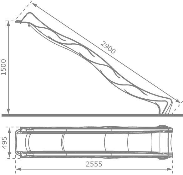glissi re s line rouge oogarden france. Black Bedroom Furniture Sets. Home Design Ideas