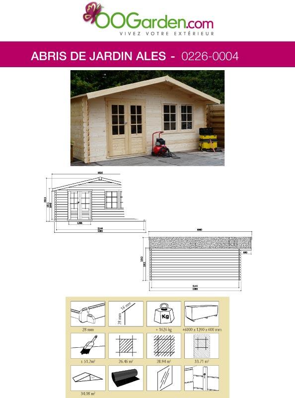 prestation de montage sur dalle b ton pour abri ales oogarden france. Black Bedroom Furniture Sets. Home Design Ideas