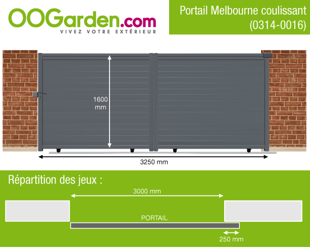 portail aluminium coulissant m melbourne oogarden france. Black Bedroom Furniture Sets. Home Design Ideas
