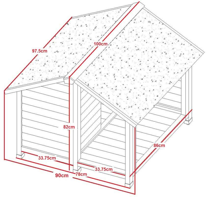 hundeh tte mit balkon belle 100 cm oogarden deutschland. Black Bedroom Furniture Sets. Home Design Ideas