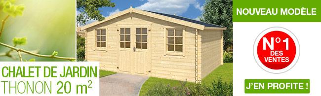 Chalet de jardin en bois 20 m2 madriers de 28 mm avec - Abri de jardin moins de 20 m2 ...