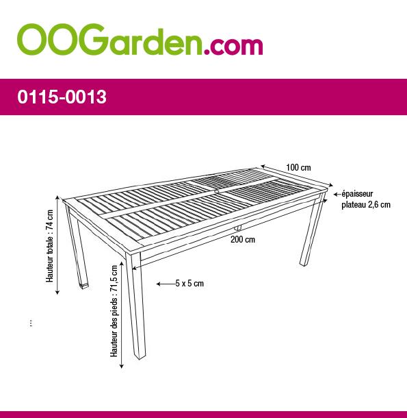 salon de jardin barcelona 200cm chocolat oogarden belgique. Black Bedroom Furniture Sets. Home Design Ideas