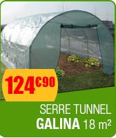 Serre de jardin tunnel GALINA 18 m� - hauteur 2 m�tres