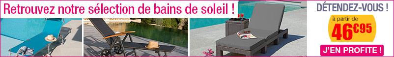Selection de bains de soleil