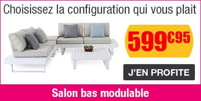 Salon bas modulable