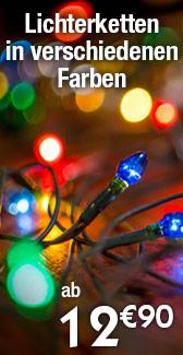 Lichterketten Weihnachten Garten