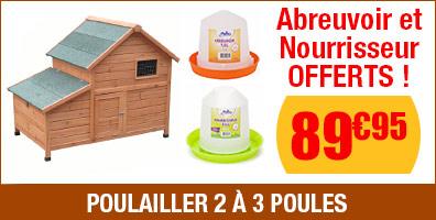 Poulailler Chicken Home - Abreuvoir & Nourrisseur OFFERTS
