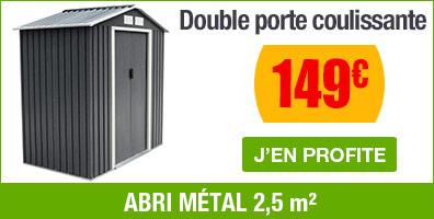 abri metal 2,5