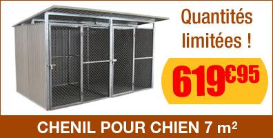 Chenil pour chien en métal 7m²