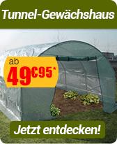 Tunnel-Gewächshaus