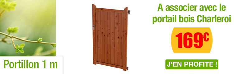 Portillon de Jardin Pas Cher | Portillon Bois, Fer et Alu | OOGarden
