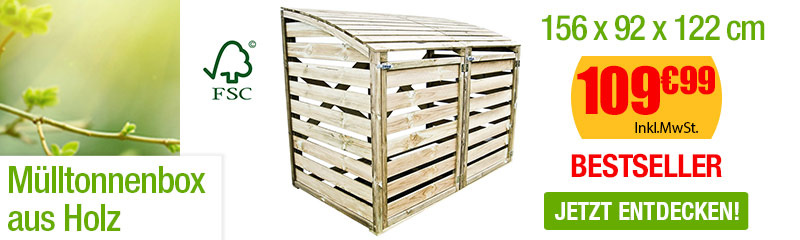 Doppelte Mülltonnenbox Aus Holz