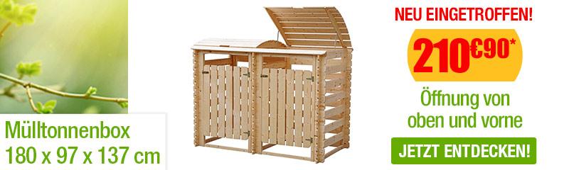 Mülltonnenbox Aus Holz B 180 X H 137 Cm