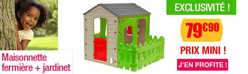 Maisonnette plastique pas cher | Maison de jardin enfant | OOGarden