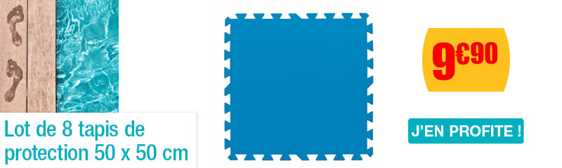 Lot de 8 tapis de protection 50x50 cm