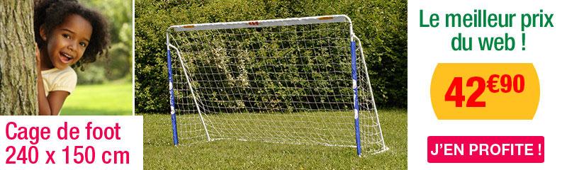 3c93ce632892c Cage de foot tubes métalliques 240 x 150 cm