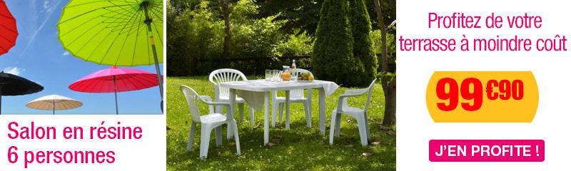 Salon Jardin en Résine et PVC | Table et Fauteuil de jardin | OOGarden