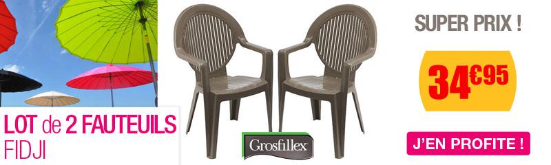 Chaise et Fauteuil de jardin en résine et PVC | OOGarden