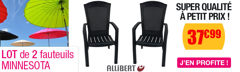 Lot de 2 fauteuils MINNESOTA graphite - OOGarden