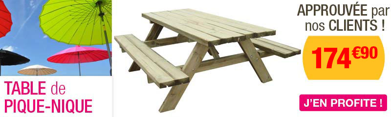 Table de jardin en bois | Mobilier extérieur - OOGarden France