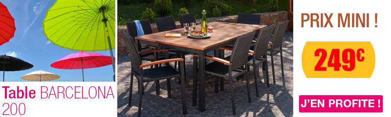 Table de jardin en bois | Table bois pas cher pour terrasse | OOGarden