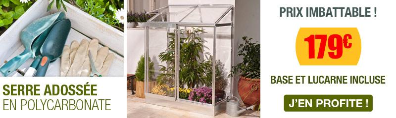 Serre de Jardin adossée | Serre en Verre et Polycarbonate | OOGarden