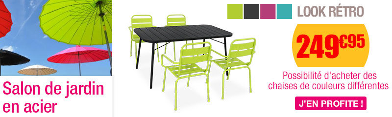 Salon De Jardin Metallique Table Metal Couleur Gifi 2 Personnes Somum