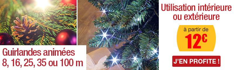 Les Décorations De Noël. Guirlande Animée   Blanc Pur   8 M