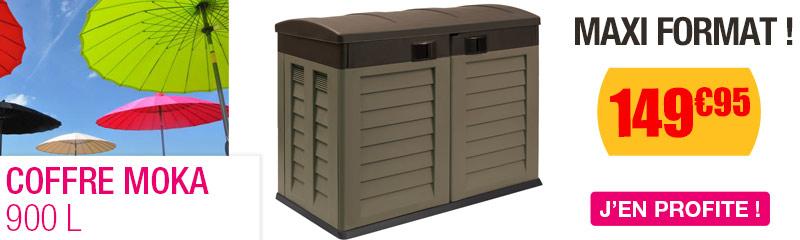 Coffre de Jardin en resine et PVC | Banc coffre exterieur | OOGarden