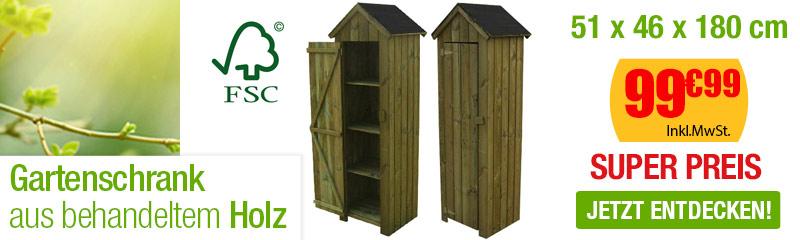 Schrank Aus Behandeltem Holz 51x46x180 Cm