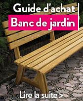 guide banc de jardin