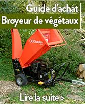 guide broyeur de vegetaux