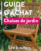 guide chaise de jardin