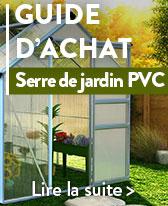 guide serre de jardin pvc