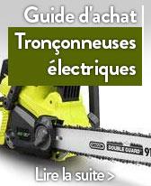 guide tronconneuse electrique