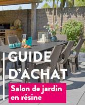 Salon Jardin en Résine et PVC | Table et Fauteuil de jardin ...